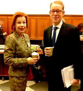 Karin Ehnbom-Palmquist och Tobias Billström