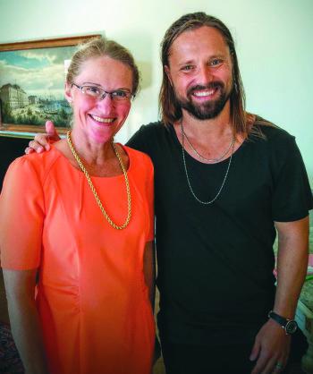 Max Martin ger aldrig intervjuer, men Svenskar i Världens redaktör Ellika Nyqvist Livchitz fick en mycket trevlig pratstund i Strömsalongerna efter prisutdelningen.