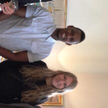 Möte på svenska ambassaen i Prag. Liban Jamal och Paula Sund (mitten) är våra studentombud i Tjeckien. Båda läser läser till läkare och är inne på andra året i sin utbildning. Edward Lilliehöök till vänster är praktikant på ambassaden.