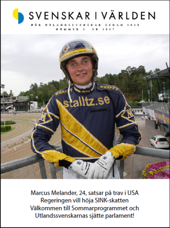 Svenskar i Världens tidning nummer 2 2017 framsidan