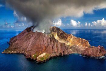 Vulkanutbrott i Bay of Plenty